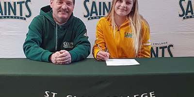 Saints head coach Kris Geier announced the signing of Milton's Madison Kaldenbach to the women's soccer program for the 2018 season.Photo courtesy of Saints Athletics.