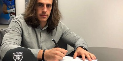 LaSalle native and NFL tight end Luke Willson signed with the Oakland Raiders on 29 Mach 2019. Willson spent last season with the Detroit Lions after five seasons with Seattle, winning a Super Bowl in 2014.Photo courtesy of the Oakland Raiders.