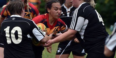 The Kent Havoc senior women were tripped up by the Stratford Black Swans 31-24 at home on 21 July 2019.Photo by Ian Shalapata.