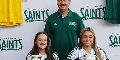 St Clair Saints head coach Kris Geier announced the signing of Katia Palmer and Serena Smith to the women's soccer program for the 2018 season.Photo courtesy of Saints Athletics.