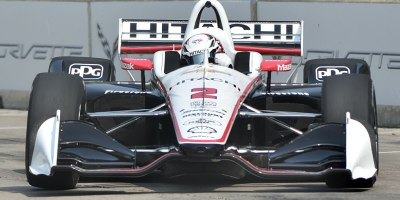 Josef Newgarden in Turn 7 at the Belle Isle road course in Detroit during IndyCar practice on 31 May 2019. Newgarden had the second fastest lap of the day and will lead Group 1 qualifying for Dual 1 on June 1.Photo by Ian Shalapata.