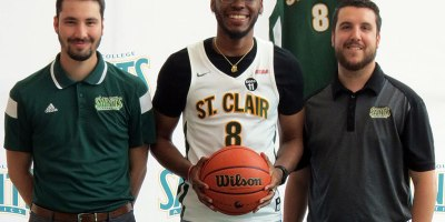 The St Clair Saints announced the signing of Yipsilanti native and former Macomb Monarch Jalen Harmon on 21 May 2019.Photo courtesy of Saints Athletics.