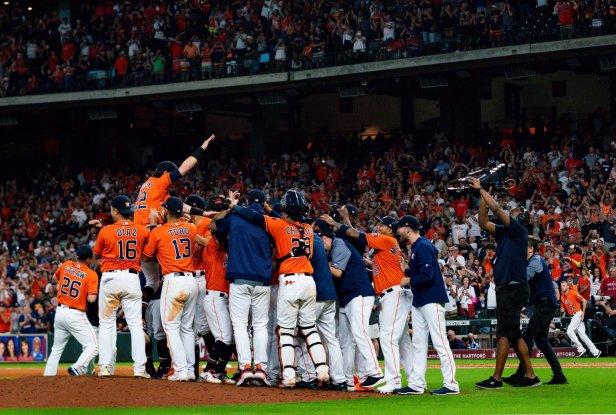 Houston Astros celebrate 2019 World Series win. Courtesy of the Houston Astros/Twitter.