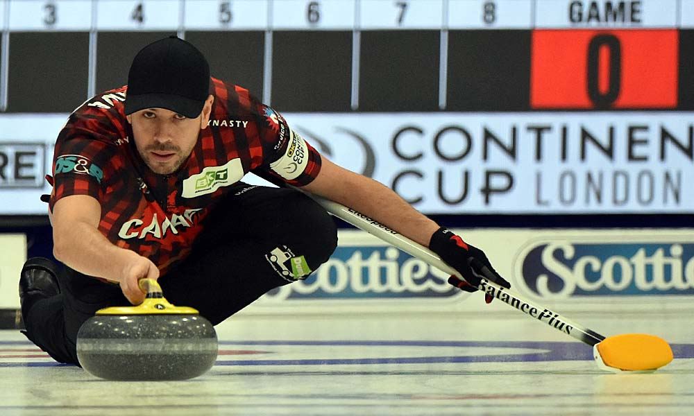 John Epping at Curling Canada's 2020 Continental Cup as part of the Season of Champions at the Western Fair Sports Centre in London, Ontario, on 11 January 2020. Ian Shalapata.