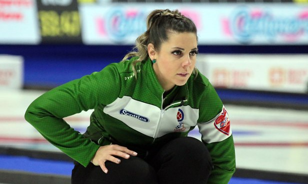 Saskatchewan skip Robin Silvernagle led her team to a nine-end, 6-4 victory over Team New Brunswick during pool play at the 2020 Tournament of Hearts in Moose Jaw, SK. (Photo by Rob Gandhu)