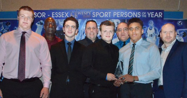 On the heels of their OPFL Varsity Championship, the Essex County Ravens were named the Team of the Year at the 2020 WESPY Awards on 10 March in Windsor. (Photo by Ian Shalapata)